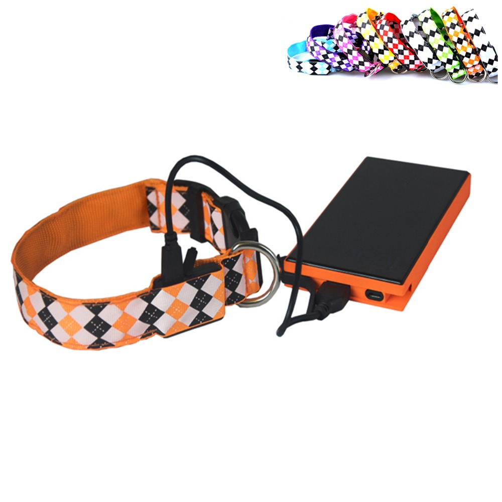 N19 Cheap USB Rechargeable LED Dog Collar Night Safety Flashing Glow Pet Dog Cat Collar With Usb Cable Charging pet Accessory