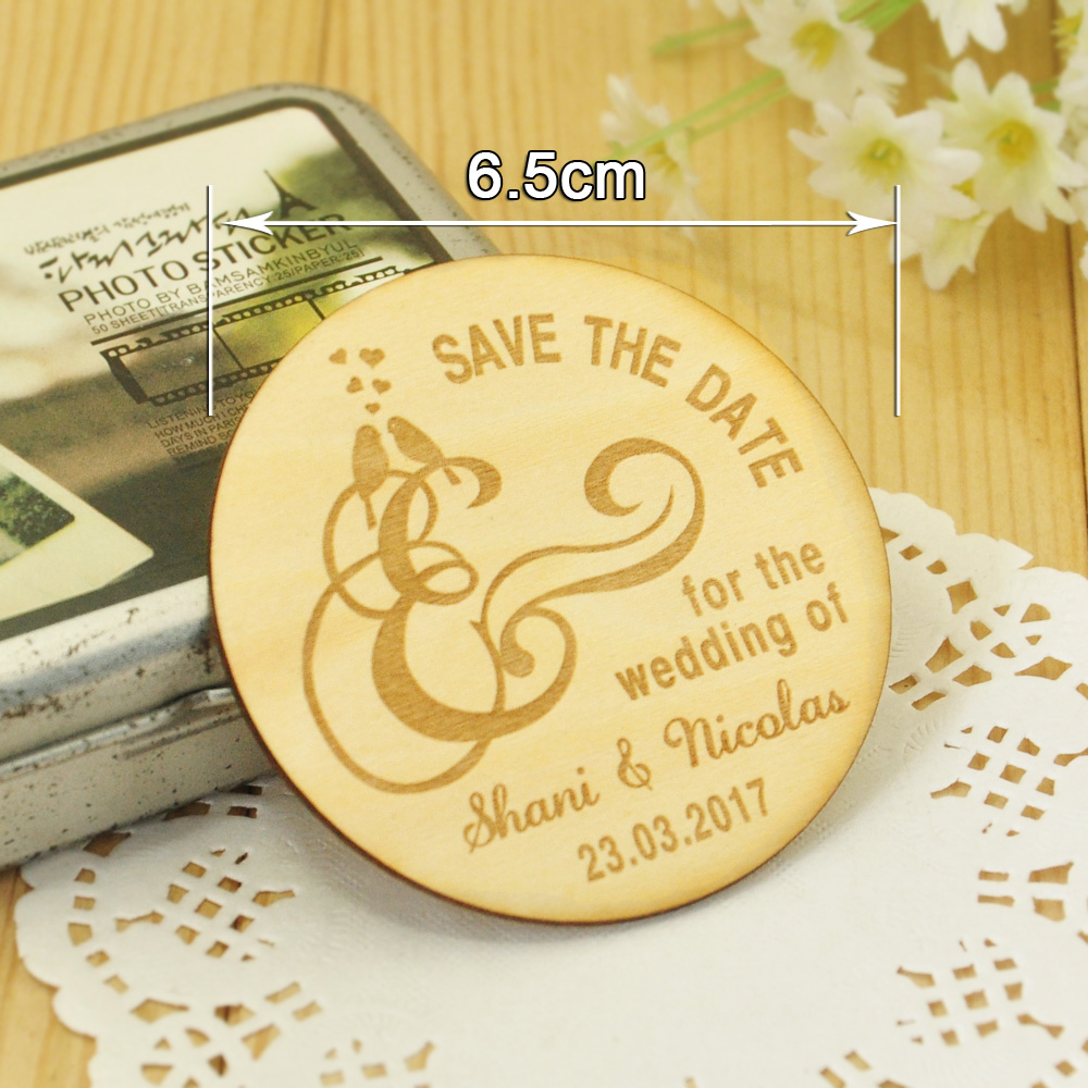 Save The Date Magnets Rustic Wood Wedding Invitation Cards