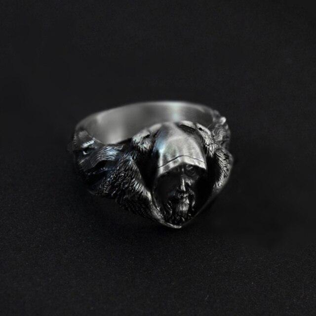 Bague viking argent odin