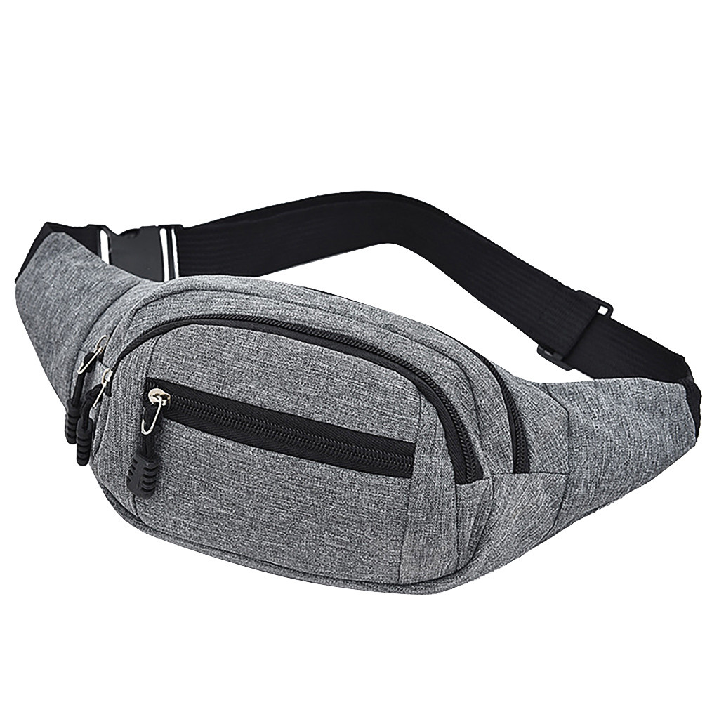 Simple Casual Soild Waist Bag Round Fanny Pack For Men's And Women's Simple Leisure Fashion Oxford Sport Fitness Waist Packs