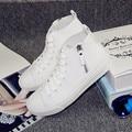 Повседневная обувь на Плоской Подошве 2016 искусственная кожа белый zip Эспадрильи Мокасины Криперс Sapatos Femininos Zapatos Mujer холст