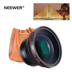 Neewer Professional HD 52mm 55mm 58mm 0.43x Wide Angle Lens (Macro Portion) for Nikon Canon and Sony Alpha Cameras