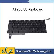 """10 шт./лот New США замена Раскладка клавиатуры для Macbook Pro 1"""" A1286 Клавиатура США 2009 2010 2011 2012"""