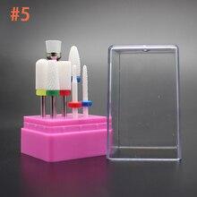 7 Tyyppi Keraamiset kynsisakset Manikyyri Koneen lisävarusteet Rotary Electric Kynsivälineet Manikyyrireunat Nail Art Tools