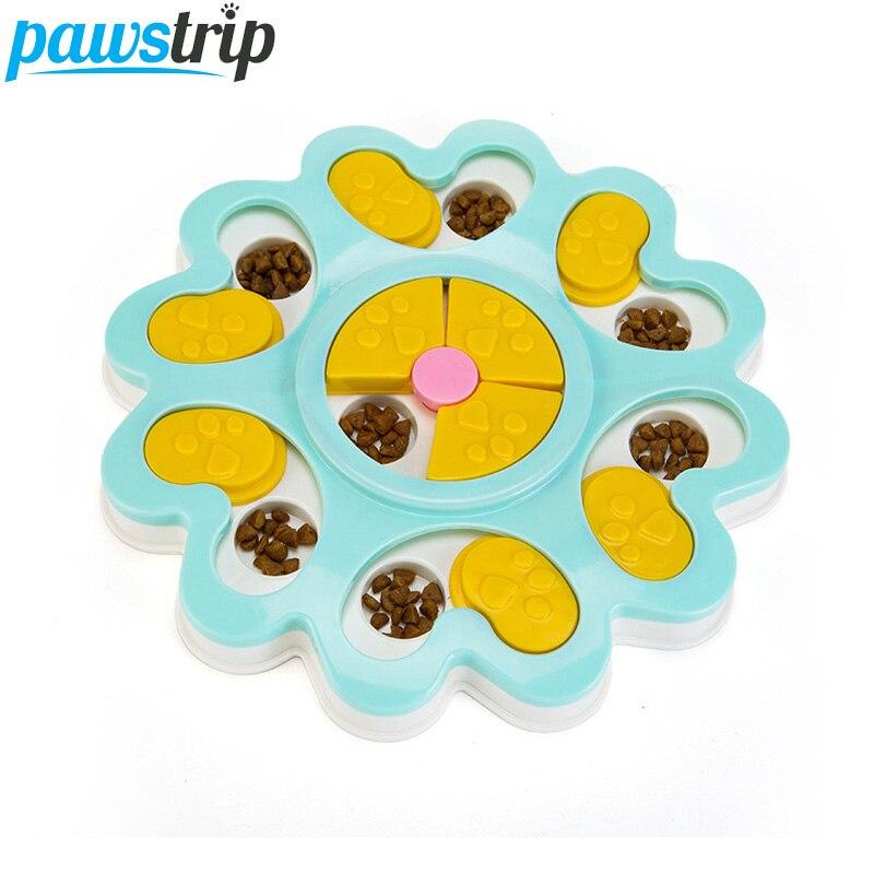pawstrip Educational Dog Toys Flower Design Anti Choke Dog Bowl Puppy Dog Food Dispenser Pet Dog Training Toys 25*3cm