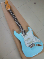 Hot sale electric guitar.vintage blue st guitar,master build relic aged guitar