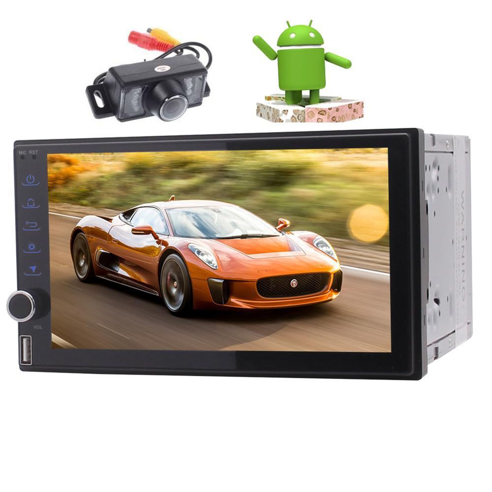 Android 7.1 Car NO DVD gps Player Stereo Radio Receiver with GPS Navigation steering wheel controls Car Audio with Backup Camera