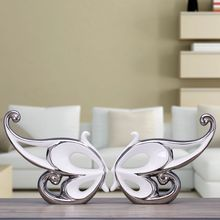 ceramic butterfly home decor crafts room decoration kawaii ornament porcelain figurines wedding decorations