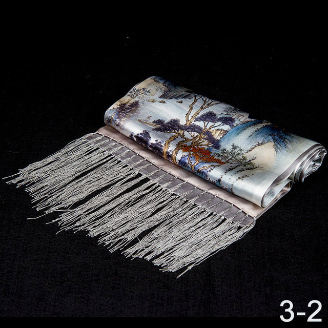 100% Silk Scarf Men Scarf Rivers and Mountains Long Silk Shawl 2017 Designer Scarf Top Print Male Shawl Hot Luxury Gift for Men