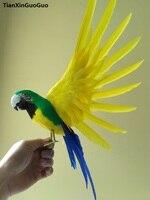 Büyük 30x50 cm simülasyon kuş renkli tüyler h0908 yayılma wings papağan modeli el sanatları ev bahçe Dekorasyon sahne