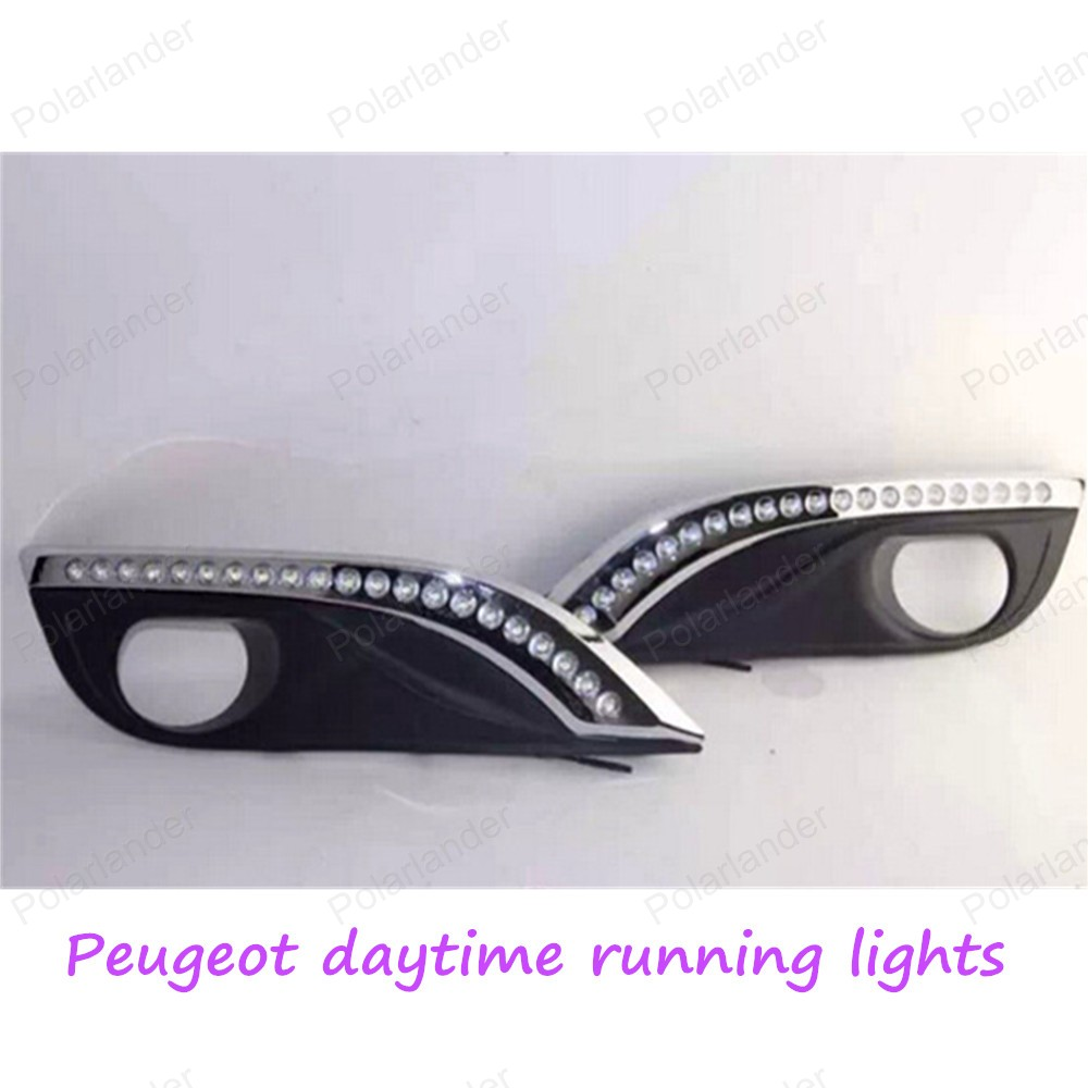 Yeats Led Daytime Running Lights Drl Led Front Bumper Fog: DRL Auto Front Bumper Led Fog Lamps High Light Car LED Day