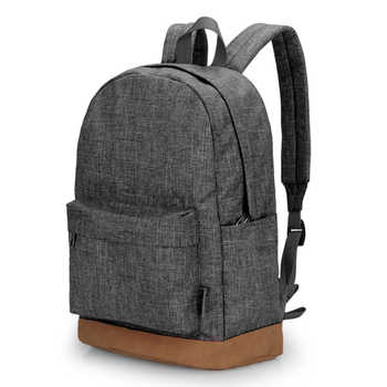 TINYAT Men Canvas Backpack School Casual Laptop Backpack Gray Composition Bags Leisure Male Waist Belt Bag Crossbody Bag Set