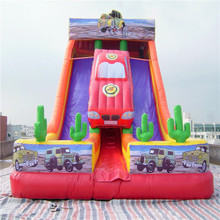 attractive cartoon inflatable slide bouncer YLW-188