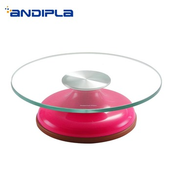 Modern Cake Turntable ABS Plastic Glass Rotating Plate for Make Cake Revolving Stand / Kitchen Accessories Baking Tools Display