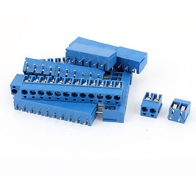 39Pcs 5.08mm Pitch 2/3Pin PCB Mount Power Screw Terminal Block Connector useful 20 30 100 200pcs pitch 2 54mm splice straight pin pcb 2pin 3pin universal screw terminal block connector for pcb wiring