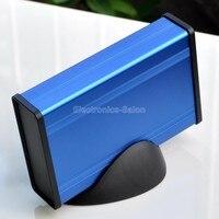 Aluminum Project Box Enclousure Case With Base Blue 3 78 X 1 3 X 5 51