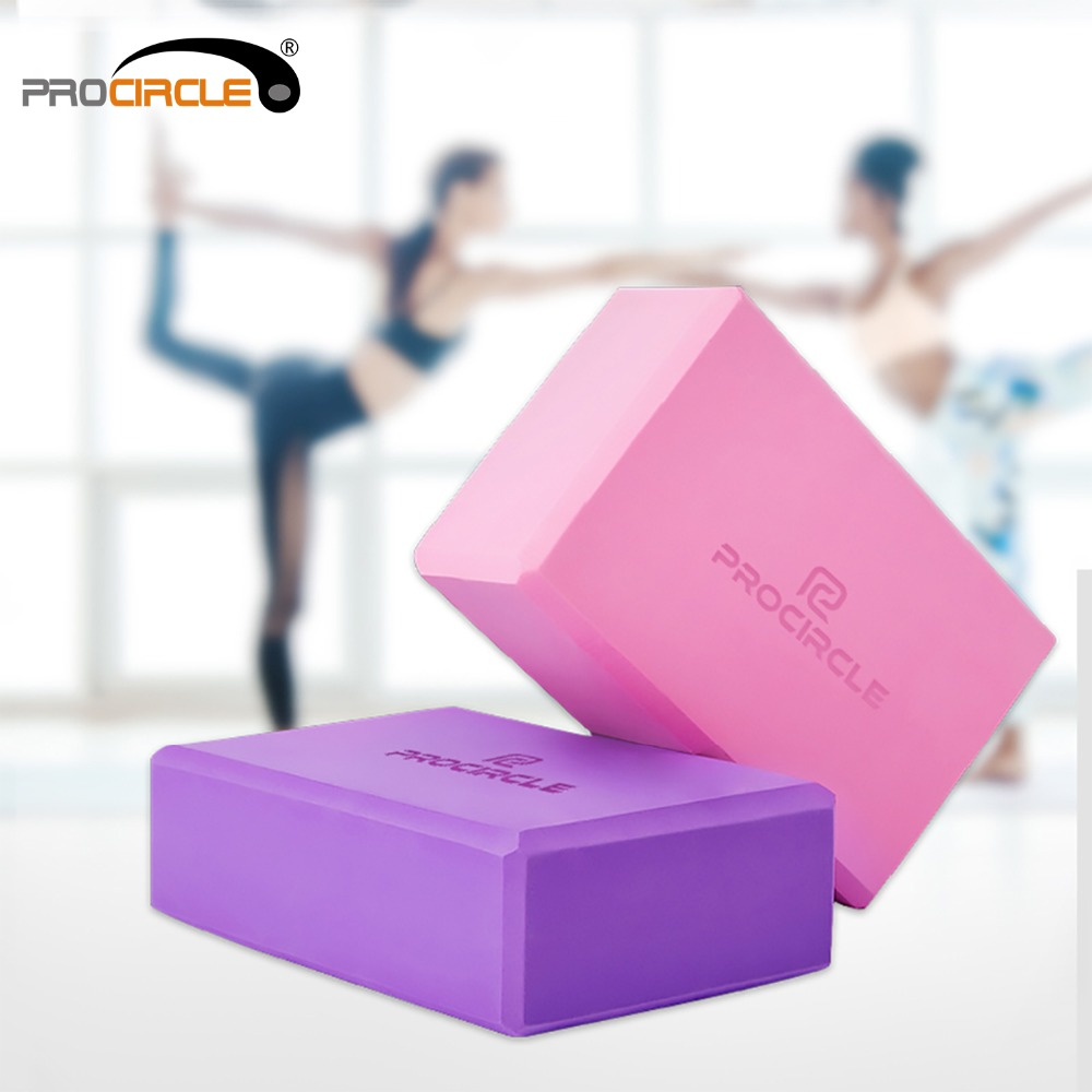 ProCircle High Density EVA Yoga Block Foam Blocks for Pilates Home Gym Yoga Equipment Workout Fitness Training 4 Color procircle 32cm wood gymnastic rings workout for home gym