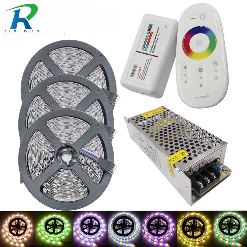 все цены на 15m 900leds RGBW/RGBWW Flexible LED strip SMD5050 60leds/m tape ribbon dc12V+ 2.4G RF Remote Controller + 10A Power supply Kit онлайн