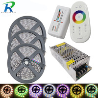 15m 900leds RGBW/RGBWW Flexible LED strip SMD5050 60leds/m tape ribbon dc12V+ 2.4G RF Remote Controller + 10A Power supply Kit