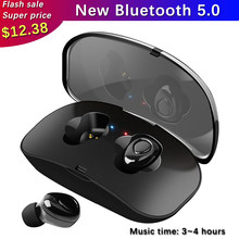 X18s Wireless Headsets Bluetooth 5.0 Wireless Earbuds Earpieces Stereo Earphones With Mic Portable Charging Box Fone De Ouvido(China)