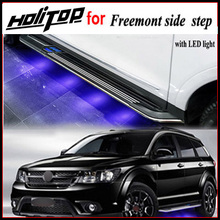 Hot for Fiat Freemont running board/side step /side bar,with LED light 2011-2017.low profit,ISO9001 quality.Asia free shipping