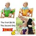 Alimentação do bebê Cadeira Portátil Infantil Assentos do Impulsionador Do Bebê Toddlers Crianças Cinto de Segurança Alimentar Cadeirinha Harness Cadeira/Assento