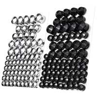 76pc Motorcycle Screw Bolt Topper Caps Cover For Harley Davidson Twin Cam Dyna 1991 2013 UK