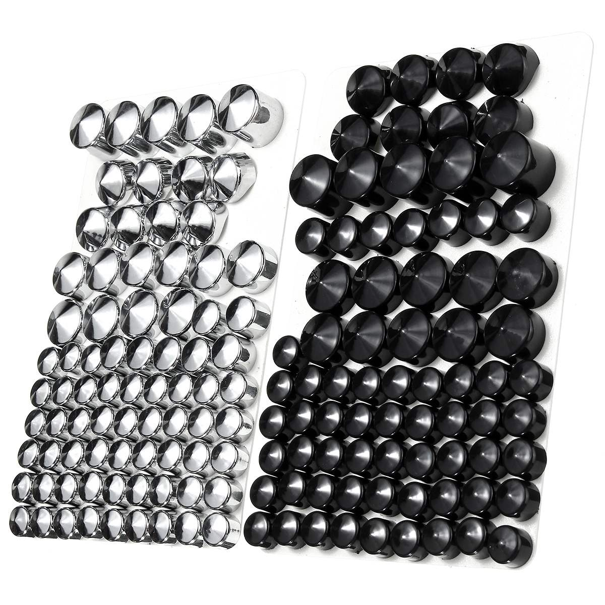 76pc Motorcycle Screw Bolt Topper Caps Cover For Harley-Davidson Twin Cam/Dyna 1991-2013 UK ABS Plastic Chrome Black цена 2017