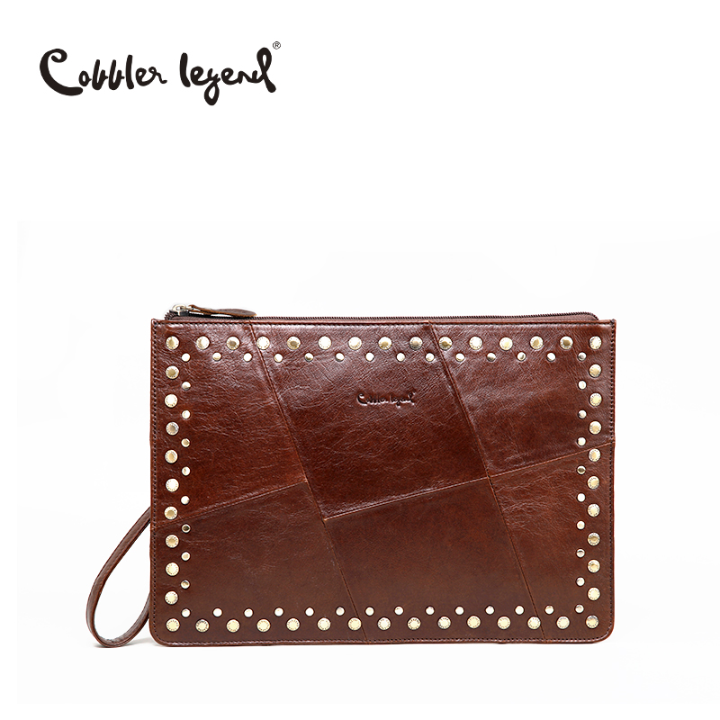 Cobbler Legend 2018 New Fashion Ladies Clutch Wallets Genuine Leather Women Wallet Large Capacity Coin Card Holder Clutch Purses in Wallets from Luggage Bags