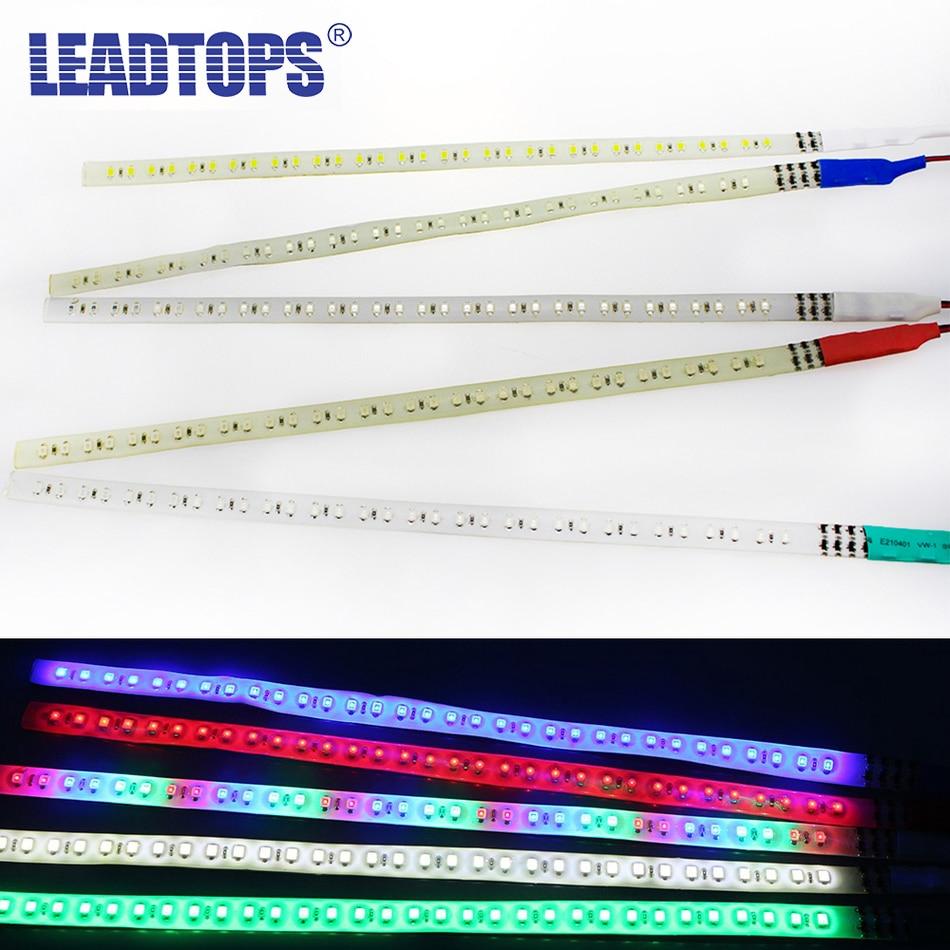 10X RGB Multi Color 60CM 48 SMD LED Strip Light Knight Rider Flash Strobe Light