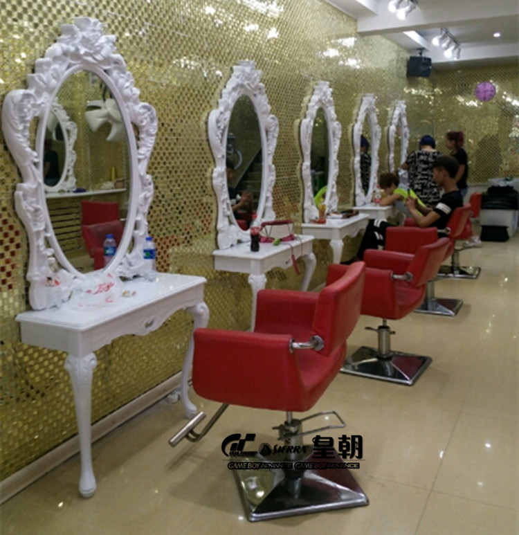 European High-grade Hairdressing Mirror. Hair Salons Haircut Jingyi.. Beauty Salon Jingyi