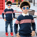 2016 New Leisure Kids Children's Clothing, Autumn Striped Boys Cardigan Knit Sweater Coat Cardigan Children Baby Sweater