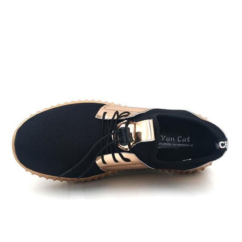 Grandes De Casuales Zapatos Verano Transpirables 46 2017 Black Nuevos silver Otoño Tallas Planos Parejas Para 35 golden Moda Hombre OqSwFBF
