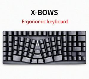 Image 1 - X bows ergonomic mechanical keyboard no light gateron switch teclado mecanico mechanical Keyboard Bow Keyboard bow keyboard