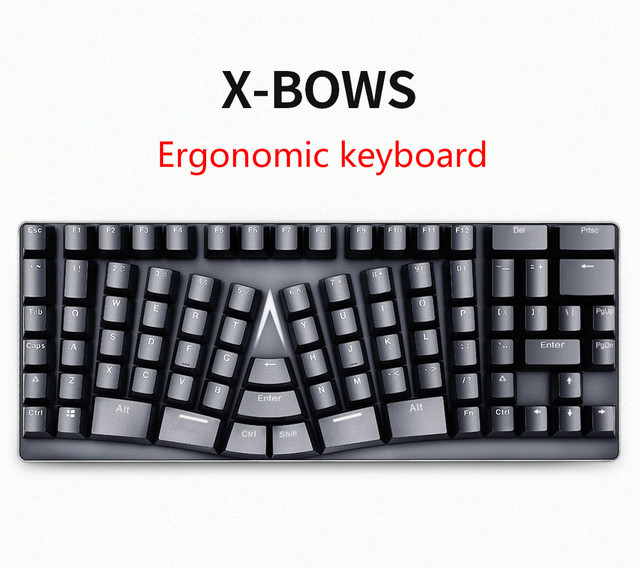 X bows ergonomic mechanical keyboard no light gateron switch teclado mecanico mechanical Keyboard Bow Keyboard bow keyboard