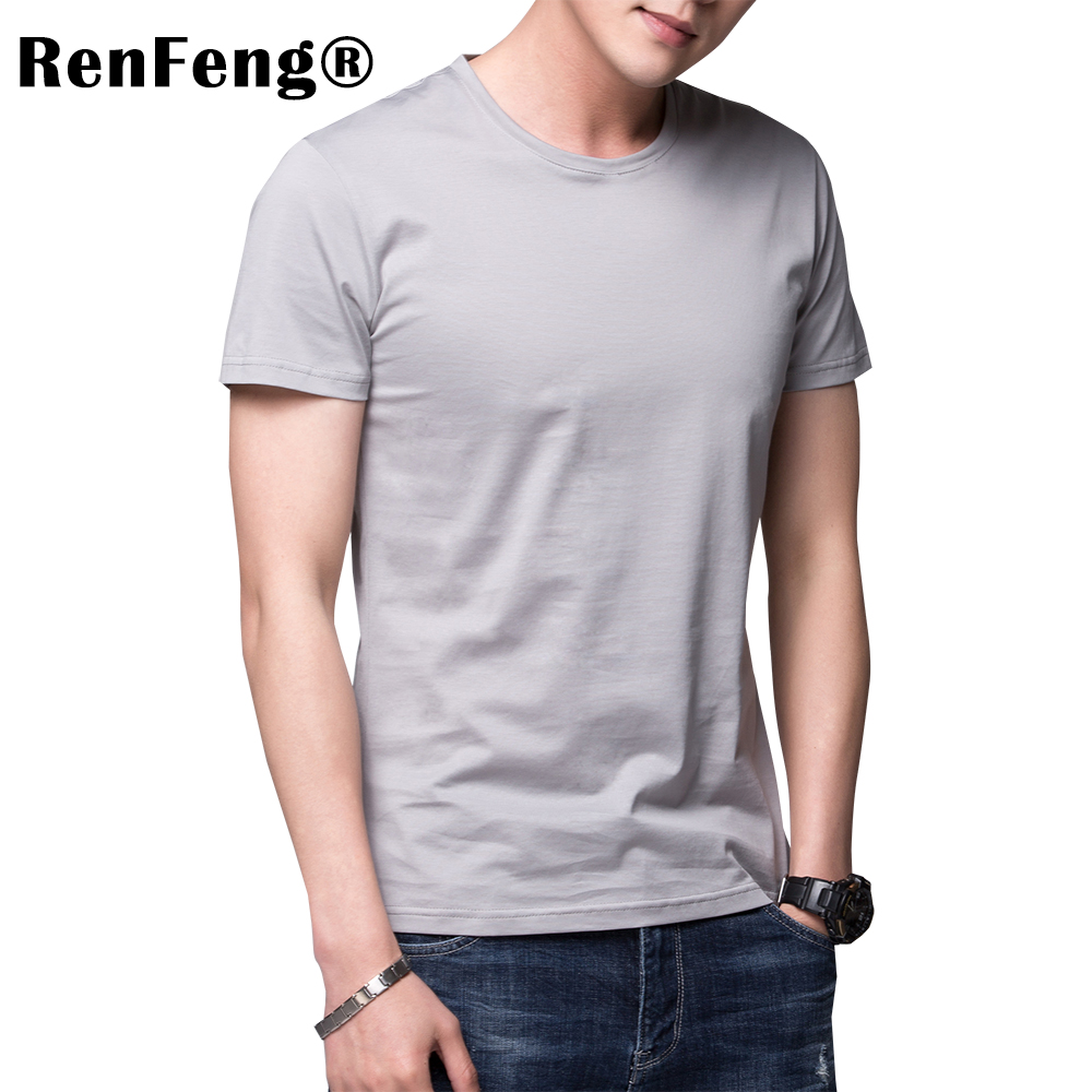 Solid color 100% Mercerized Cotton T Shirt Mens Black White T-shirts 2018 Summer Skateboard Tee Boy Hip hop Skate Tshirt Tops (4)