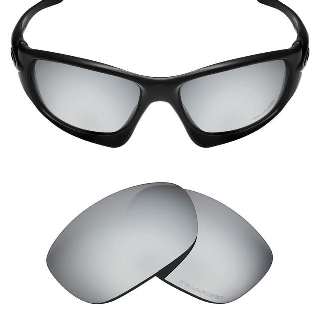 1c2dfe8612 Mryok+ POLARIZED Resist SeaWater Replacement Lenses for Oakley Ten Sunglasses  Silver Titanium