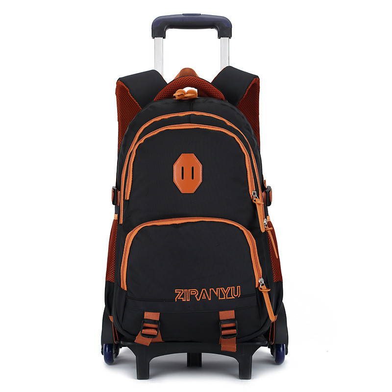 2/6 Wheels Children School bags Students Trolley Backpack Boys Girls Rolling Luggage Travel Bag on wheels Bagpack Women Bolsas