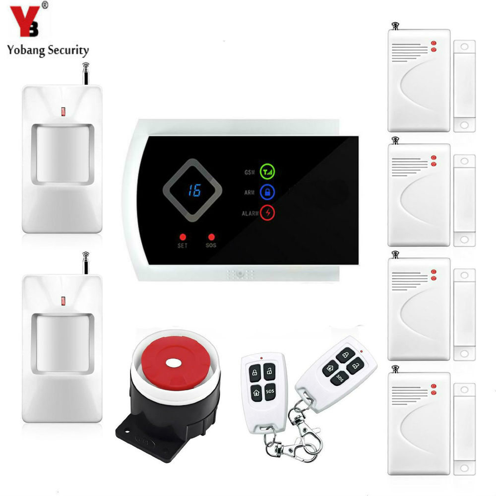 YobangSecurity Russian Spanish Italian Slovak Voice Home Security Kit Alarm GSM Wireless APP Remote Control PIR/Door Sensor