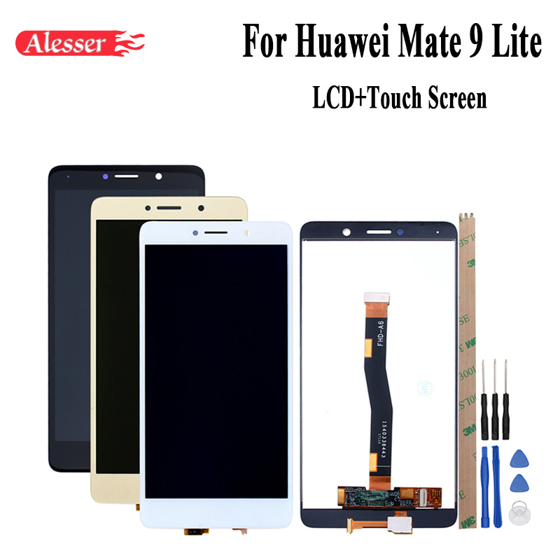 Alesser For Huawei Mate 9 Lite LCD Display And Touch Screen 5.5Assembly Repair Parts+Tools+Tapes For Huawei Mate 9 Lite BLL-L23Alesser For Huawei Mate 9 Lite LCD Display And Touch Screen 5.5Assembly Repair Parts+Tools+Tapes For Huawei Mate 9 Lite BLL-L23