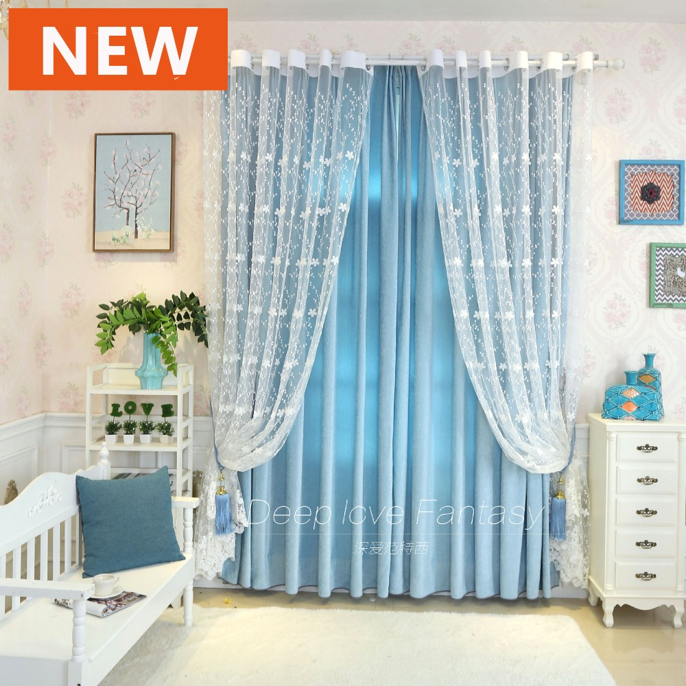Curtains for bedroom 2016 - 2016 Hot Style Small Fresh Girl Houses Embroidered Voile Curtains Window Curtain For Living Room Bedroom Kitchen Curtains