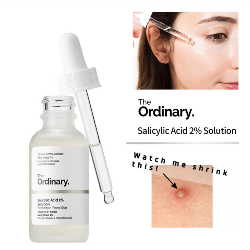 Peel Exfoliating Facial-Acid-Skin Acne-Blemishes Salicylic-Acid The Ordinary 2%Solution