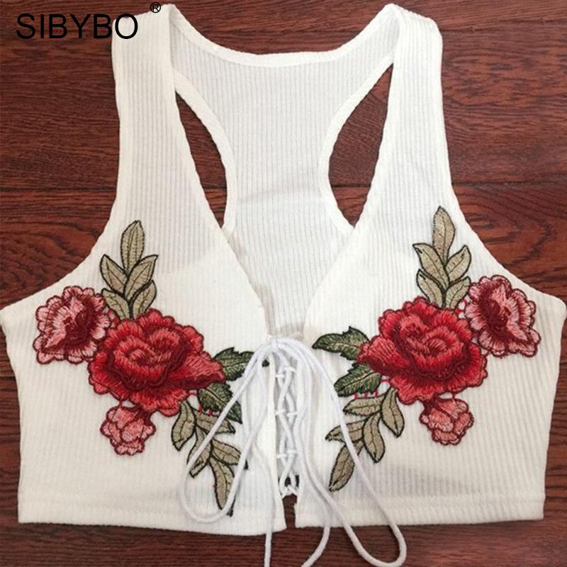 HTB1y 8lRpXXXXaTXXXXq6xXFXXXi - Summer Floral Embroidered Crop Top Women PTC 184