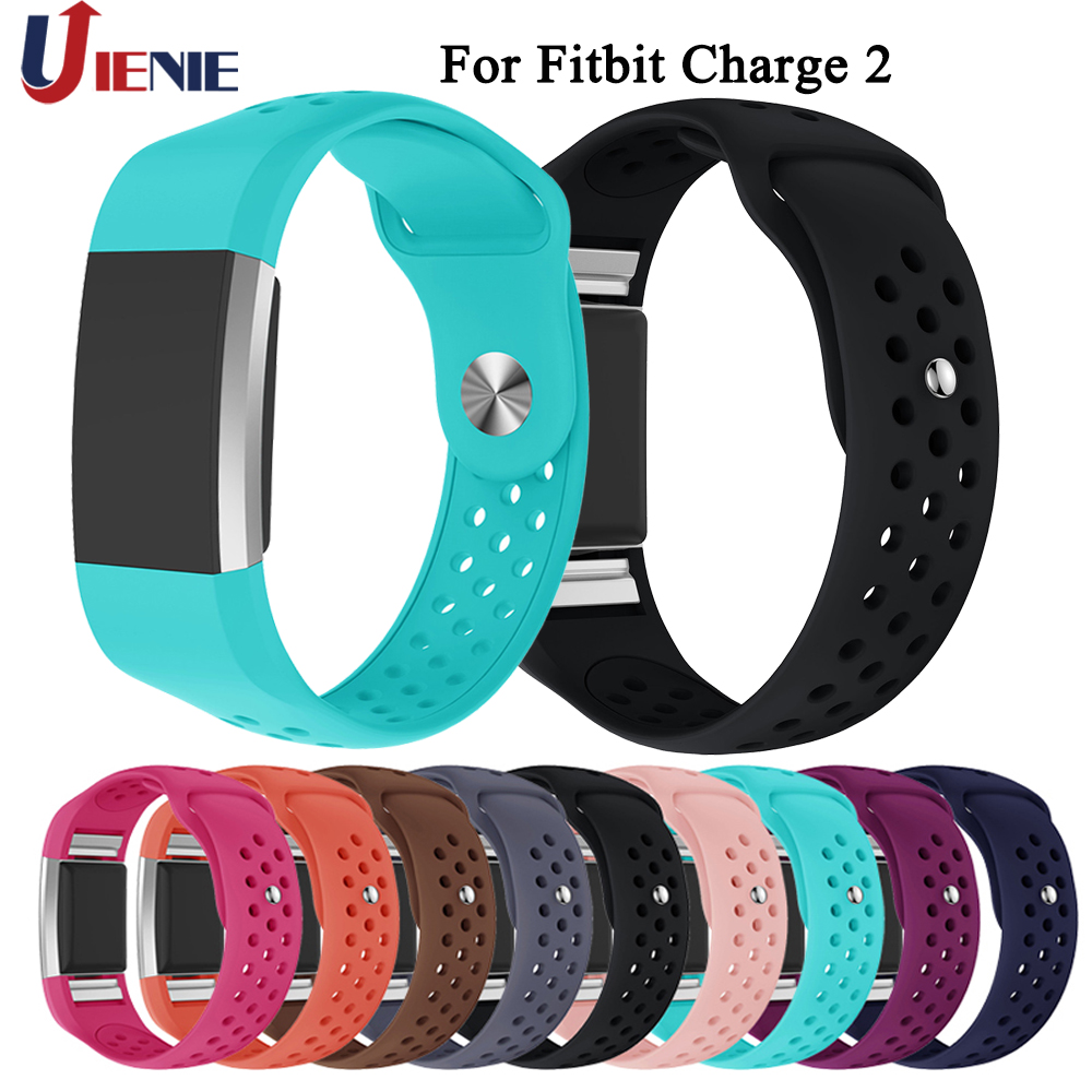 Silicone Watchband Strap Or Fitbit Charge 2 Smart Watch Band Fashion Colorful Sports Replace Band Wrist Strap Bracelet Band