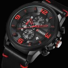 CURREN New Chronograph Black Men Watches Luxury Fashion Spor