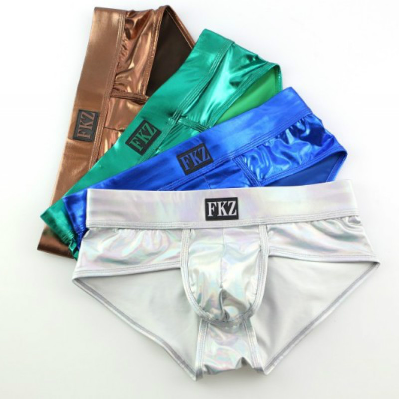 Men's Boxer Underwear Metallic Shiny Gays Sexy New Hot Silver Lot Gold 2pc Stage Dance