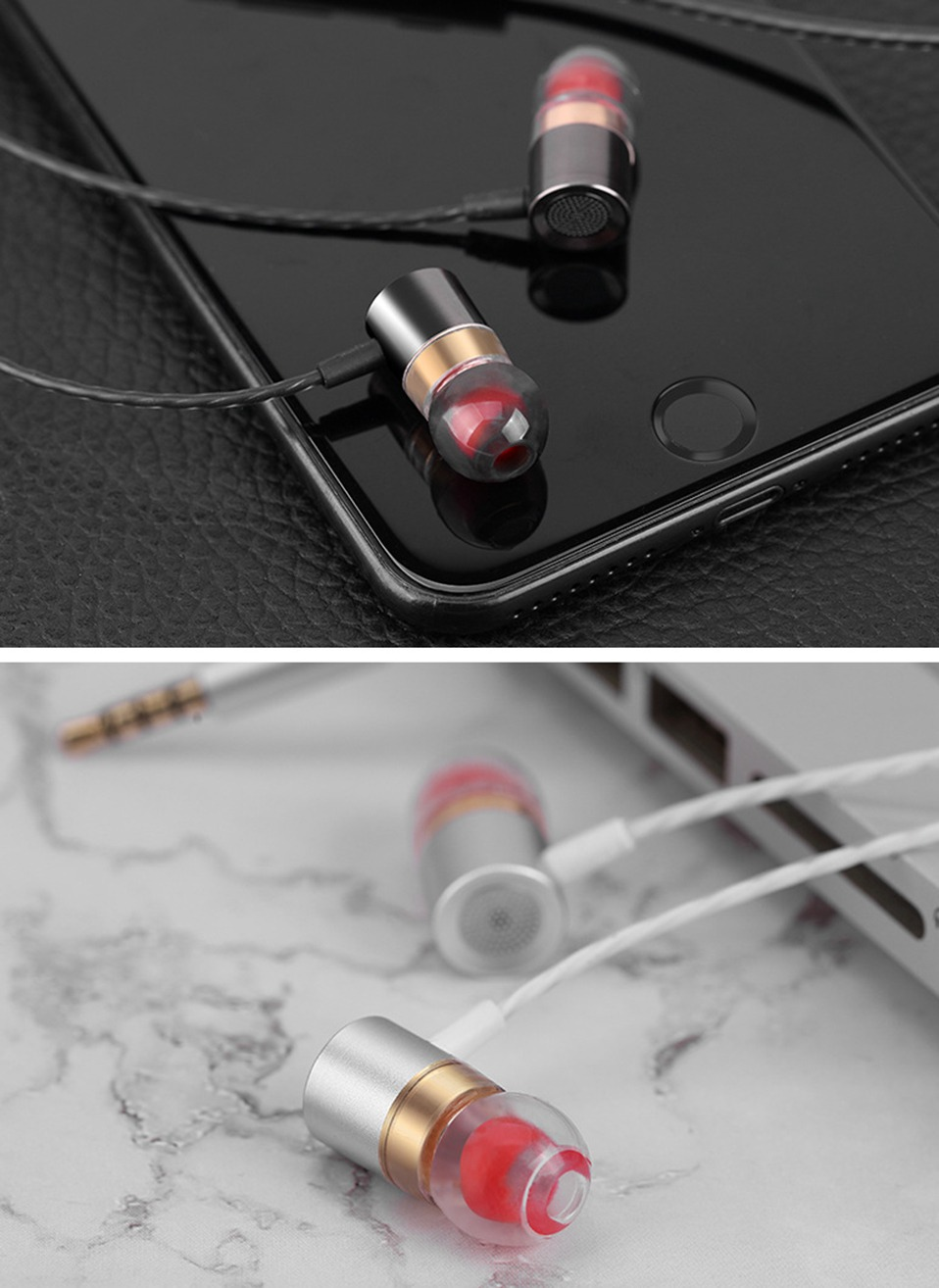 In-Ear Earphone Earbuds Metal Supper Bass Headphones Wired Earphones with Mic for Xiomi Phone Computer 3.5mm In Ear Headset      (12)