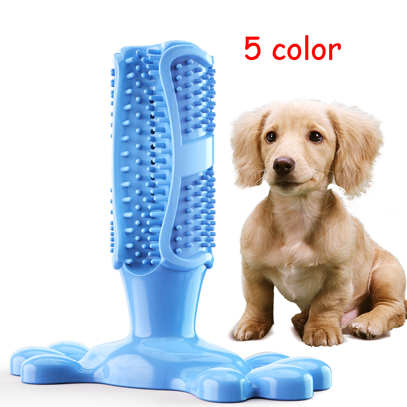 Dog Toothbrush Stick Silicone Toy Pet Products For Dog Teeth Cleaning Mascotas Honden Tandenborstel Pet Molar Tooth Cleaner image
