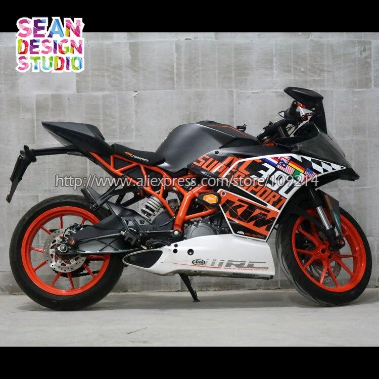 Для KTM RC390 RC200 2014 2017 Гоночный комплект moto rcycle moto велосипед moto наклейка Стикеры Водонепроницаемый M 20