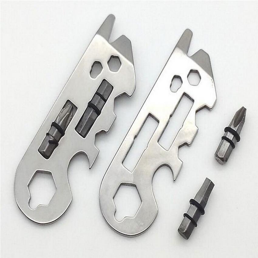 Nerūdijančio plieno daugiafunkcinis EDC įrankis, patogus raktas, - Kempingai ir žygiai pėsčiomis - Nuotrauka 1